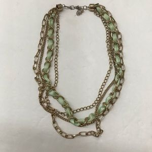 🔥5/$25🔥 Multi strand Necklace gold green